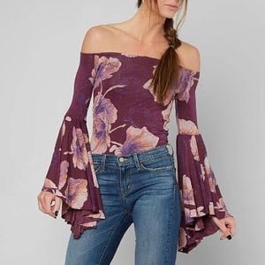 Free People Off the Shoulder Bell Sleeve Blouse